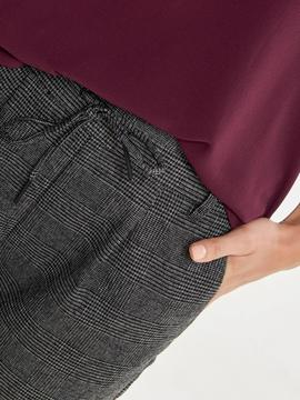 ONLPOPTRASH SOFT CHECK PANT BLACK-X