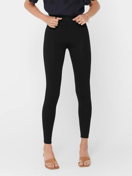 ONLTAYLOR CHECK LEGGINGS BLACK 2-X