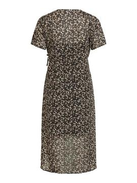 VISIONI S/S WRAP DRESS BLACK-X