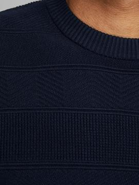 JPRBLUSCOTT KNIT CREW NECK NAVY-X
