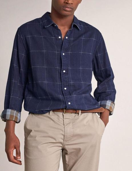 Camisa de hombre Salsa slim de cuadros en varios tonos
