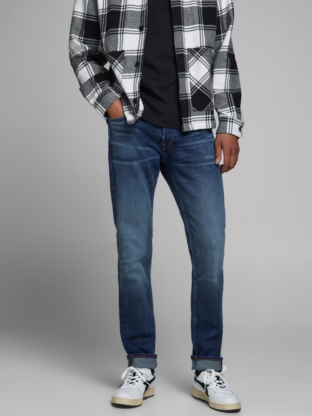 JJIGLENN JJORIGINAL BLUE DENIM-X