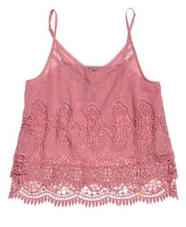 AMANDA CAMI TOP WILD ROSE-U