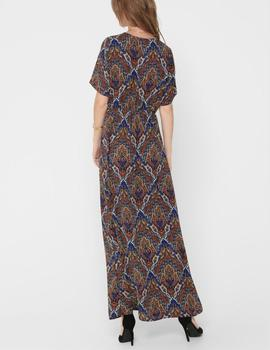 ONLHANNA S/S ANCLE DRESS BURNT-W