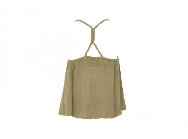 KLARA BRAIDED CAMI WASHED KHAKI-U