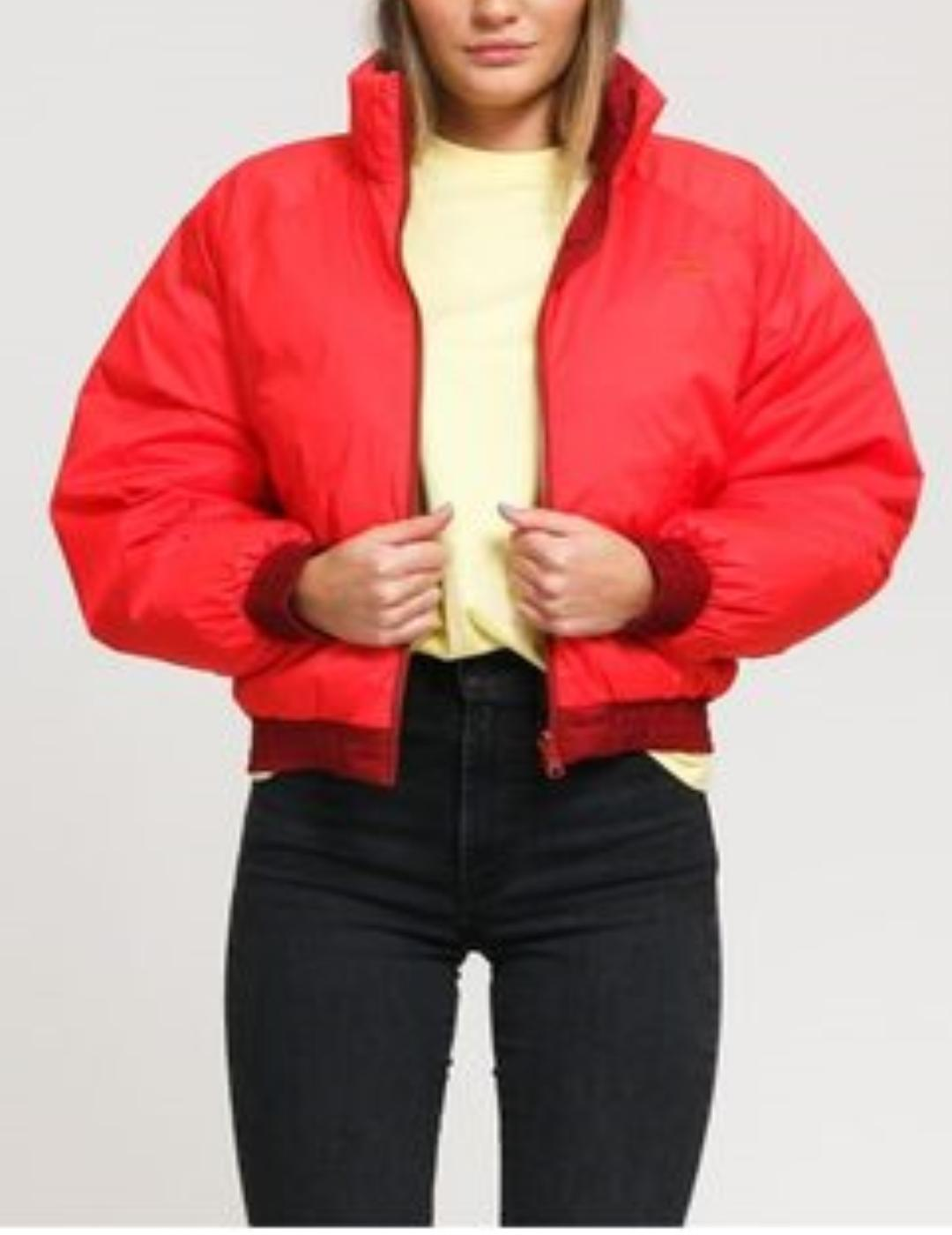 LYDIA REVERSIBLE PUFFER POPPY RED-X