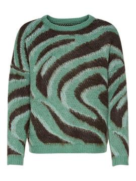 ONLNEW RANJA PULLOVER HEDGE GREEN-X